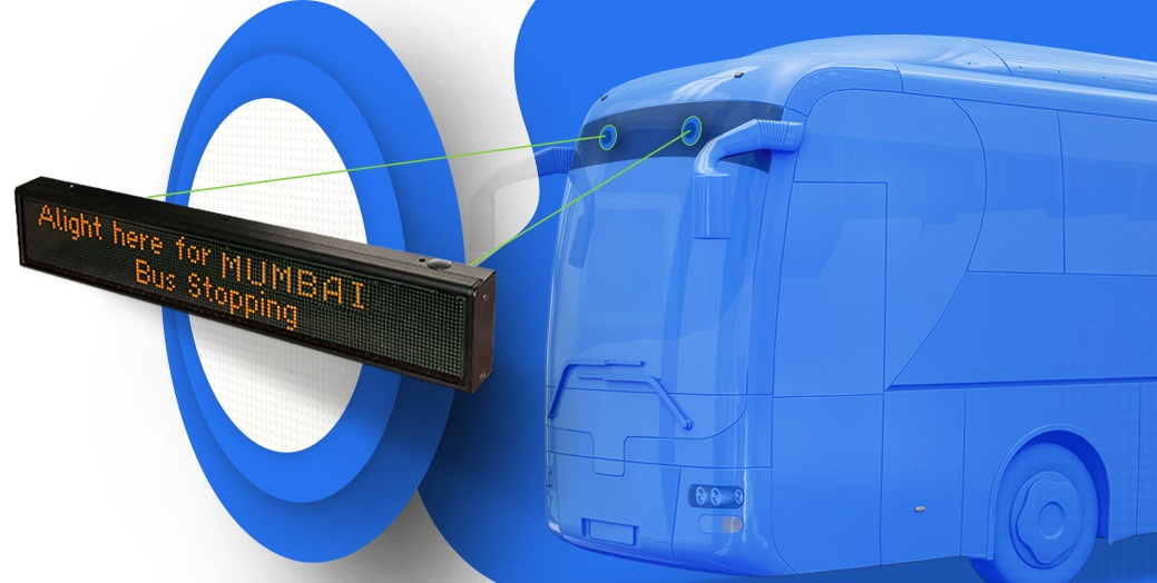 Buy LED destination display board that helps passengers throughout the route